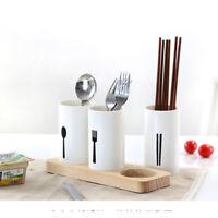 Kitchen Cutlery Utensil Holder Caddy Flatware Spoon Organizer Storage