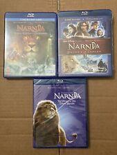 The Chronicles of Narnia Blu-ray Trilogy 3 Movies Spanish Audio New + Bonus