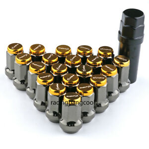 M12x1.25 Project MU Gold Composite SPEC Steel Wheel Nuts Wheel Rims Lug Nuts