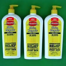 3pk O'Keeffe's Pump Bottle Skin Repair Body Lotion Heal Dry Itchy Skin Okeeffes