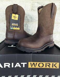 Ariat Mens Steel Toe Groundbreaker Work Boots Size 7 EE Brown 10014241 $145