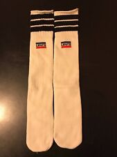 Vintage 80s Levi's Tube Socks Striped Basketball Running Jogging Gym Workout