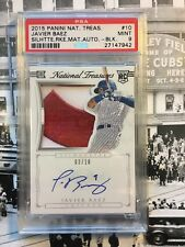 Javier Baez 2015 National Treasures Game Used Jumbo Jersey Rookie Auto /10