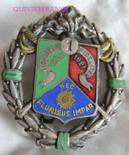 IN12975 - INSIGNE 1° Régiment Etranger de Cavalerie, émail, rond, dos lisse embo