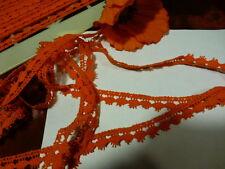 3m,x1,5galon orange pour vos vétements vintage de poupées ,poupon,rideaux etc..