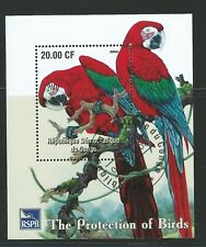 CONGO DR Ss and Mini-sheet   RSPB Protection of Parrots