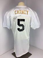 Cincinnati Bengals John Carney #5 All White Signed Football Jersey Sz XL