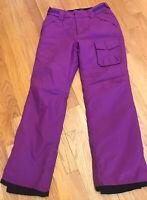 ORAGE Womens Purple Ski Pants Sz 12 Juniors Snowboard Snow Fun