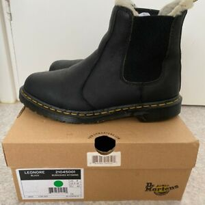 Dr Martens Leonore Fur Lined Chelsea Boots Womens Size UK 8