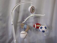Just Born Triboro Sports Baby Musical Mobile Football Baseball Soccer Ball
