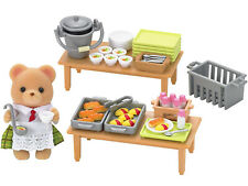 Sylvanian Families Calico Critters School Lunch Set