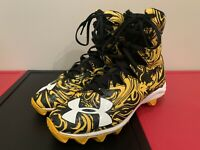 Under Armour HIGHLIGHT LUX MC Football Cleats Black/Yellow 1297953-071 Size 5Y