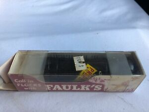 Vintage FAULK'S P-60 PREDATOR CALL w/ Box & Instructions wooden decal ptr