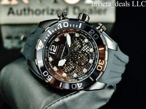 NEW Invicta Men's 50mm PRO DIVER Chronograph CAGE DIAL COMBAT Black SS Watch
