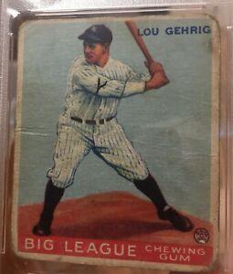1933 GOUDEY  LOU Gehrig  #160  PSA 1 mk  HOF