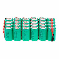 Hot 24Pcs NiCd 4/5 SubC Sub C 1.2V 2200mAh Rechargeable Battery with Tab Green