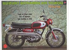 SUZUKI TC200 SCRAMBLER Stingray-1968-2 page Motorcycle Brochure NOS