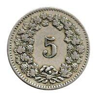 KM# 26 - 5 Rappen - Switzerland 1895 (F)