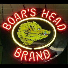 New Boars Head Brand Signs Beer Store Neon Light Bar Pub Homeroom  Party Decor