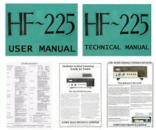 OPERATING + SERVICE MANUALS + ADVERTISEMENTS for the LOWE HF-225 RADIO RECEIVER