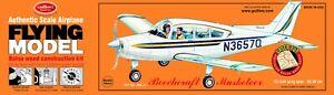 Flying Model Balsa Wood Model Airplane Guillow's Beechcraft Musketeer GUI-308-DB