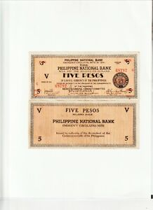 Philippines-Emergency/Guerrilla Currency-Negros 5 Pesos 1941 Very Fine Pic#S-626
