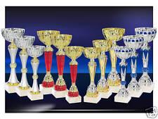 lot de 12 coupes trophées recompenses entre 24 et 33 cm