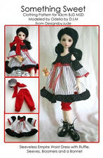 Dress & Hat Doll Clothes Sewing Pattern 43cm Ball Joint MSD Dollfie