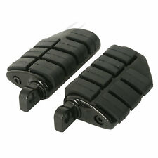 Black Wing Male Mount Footpegs rests fit For Harley Softail Dyna Sportster XL
