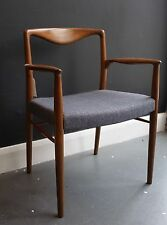 A vintage 1950s Teak Danish carver chair by Kai Lyngfeldt Larsen
