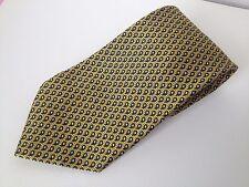 Andrew's Ties Mens Made In Italy Gold Silk Tie Luxury Necktie
