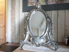 ancien miroir en étain vintage psyché