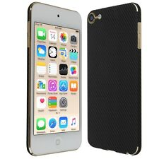 Skinomi Black Carbon Fib. Skin+Screen Protector For Apple iPod Touch 6 (6th Gen)