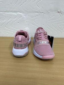 Reebok UK 4.5 - Pink Metallic Trainers Mesh Walking Work