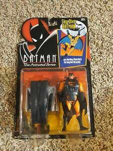Batman The Animated Series Sky Dive Batman With Working Parachute Kenner (MOC)