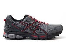 Men's Asics Gel Kahana 8 Trail Running Training Shoes Shark Black Red Size 7.5