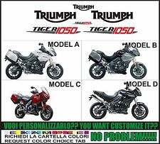 kit adesivi stickers compatibili  tiger 1050 2012