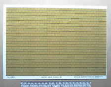 O gauge (1:48 scale) yellow roof tile self adhesive vinyl - A4 sheet (297X210mm)