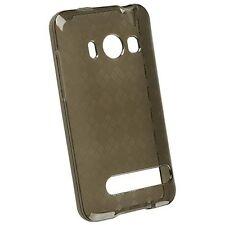 For Sprint HTC EVO 4G TPU CANDY FLEXI Skin Case Phone Cover Smoke Plaid