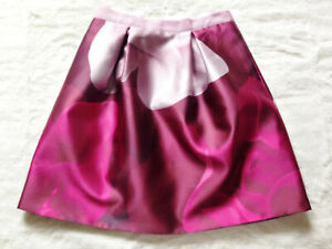 TED BAKER Porcelain Rose pink floral print jacquard fit & flare full skirt 3 12