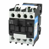 CJX2-1810 35mm DIN Rail Mount AC Contactor 3 Pole One NO 220V Coil 32A
