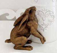 Bronzed Moon Gazing Hare Statue Bronze Bunny Figurine Home  Ornament Gift Boxed