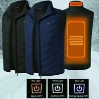 Elektrische Weste Beheizte Jacke USB Thermal Warm Heat Winter Körperwärmer V3D3