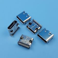 10Pcs USB 3.1 Type C Female 16Pin 4 Legs SMT Charging Port PCB Socket Connector