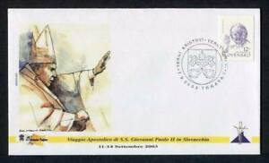 23866) Vatican 2002 FDC 'Geocover' Pope John Paul II Slovensko