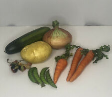 Lot 11 Faux Fake Food Replica Carrots Peas Vegetables Stage Theatre Movie Prop