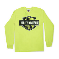 Harley-Davidson T-Shirt Biker Long Sleeves Men Woman Tel Aviv Israel Yellow