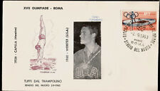 1960 Olympics Italy USA Gold Medal Bob Webster Platform Diving First Day Cover