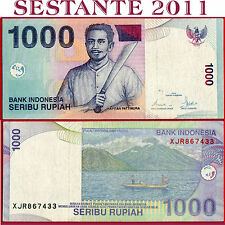 INDONESIA  -  1.000 1000 RUPIAH 2000 / 2008 -  REPLACEMENT -  P 141i -   BB / VF