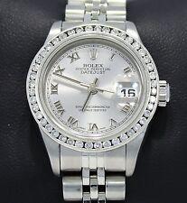 Rolex Datejust 179174 0.95CT Diamond Bezel Roman Dial Jubilee Ladies Watch *MINT